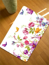 Floral Table Mats Set Of 12 Pieces-6  Tablemat + 6 Coaster) - Freelance