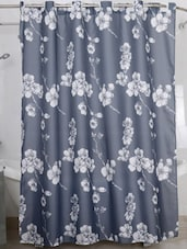 Grey Floral Print Shower Curtain - Freelance
