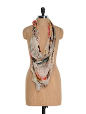 Multi-coloured Digital Printed Scarf - Toscee