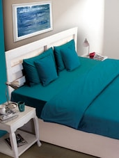 Plain Blue Bed Cover - HOUSE THIS