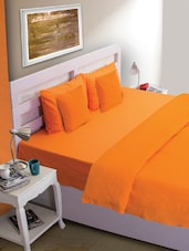 Plain Orange Bed Cover - HOUSE THIS