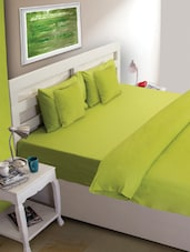 Green Solid Bed Cover - HOUSE THIS
