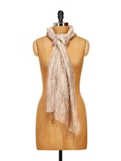 Shaded Silk Scarf With Crushed Feel - WELKIN