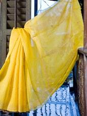 Beautiful Yellow Saree - Cotton Koleksi