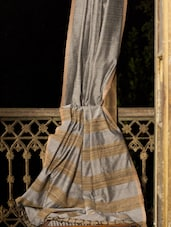 Graceful Cotton Saree With Gheecha Weave - Cotton Koleksi