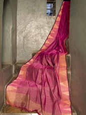 Gorgeous Pink Resham Saree - Cotton Koleksi