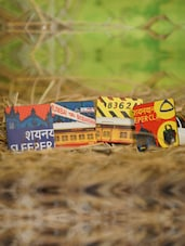 Indian Railway Coaster Set With Stand - Mad(e) In India