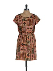 Multi-coloured Patch Print Casual Summer Dress - Sohniye