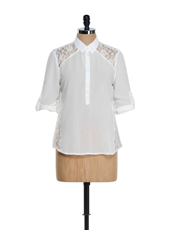 Ivory  Lace Shirt - Purys