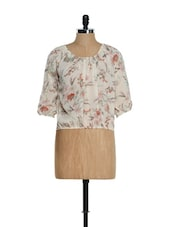 Floral Ivory Balloon Top - Purys