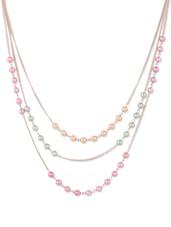 Multicoloured Beaded Multi-layered Necklace - CIRCUZZ