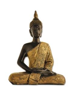 Meditating Buddha Metallic Statue (medium) - Gifts & Souveniers