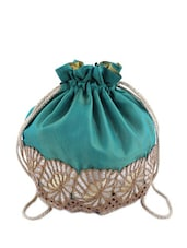 Sea Green Round Potli - Tarusa: 'art Is Everywhere'