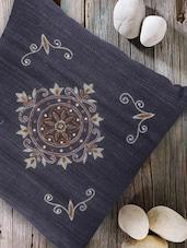 Zardozi Work Black Cushion Cover - Tarusa: 'art Is Everywhere'
