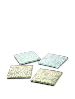 Square Shape Glass Coaster Set - Gifts & Souveniers