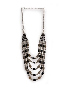 Black And Grey Beads Necklace - Art Mannia