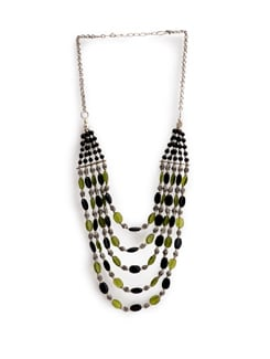 Black And Green Beads Necklace - Art Mannia