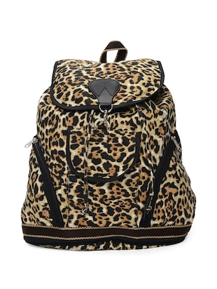 Animal print cotton canvas  back pack