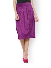 Purple Formal Skirt - Zzaaki