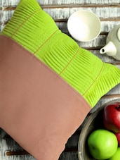 Neon Green Pin Tucked Cushion Cover - Per Inch