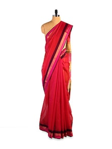 Exquisite Kosa Silk Red Saree - Kosabadi