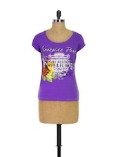 Purple Trendy Girls Casual Tee - Trendy Girlz