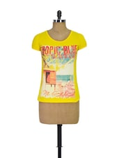 Yellow Trendy Casual Tee - Trendy Girlz