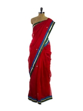 Gorgeous Bright Red Super Net Saree - Pothys