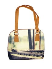 Stylish Tote Bag With Piano Key Prints - Jajv
