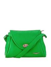 Green Trendy Sling Bag - Lino Perros