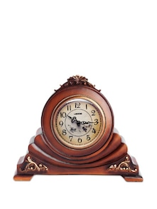 Wooden Filigree Crafted Table Clock - Cosmos Galaxy