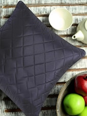 Soft Black Quilted Cushion Cover (Set Of 2) - Aapno Rajasthan