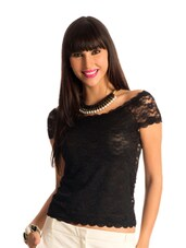 Black Lace Body-Con Top - PrettySecrets