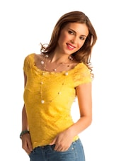 Mellow Yellow Lace Body-Con Top - PrettySecrets