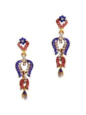 Intricate Crystal Studded Long Earrings - Subh