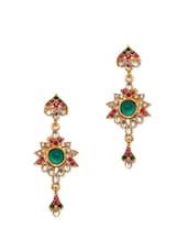Multicoloured Intricate Long Earrings - Subh