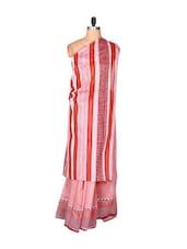 Soft Pink Printed Cotton Saree - Fabdeal