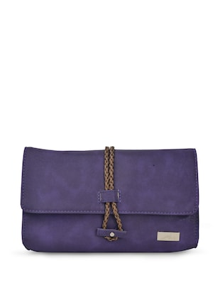 chic purple leatherette clutch