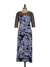 Ornate Paisley Blue Dress - Magnetic Designs