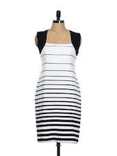 Striped Bodycon Formal Dress - Magnetic Designs