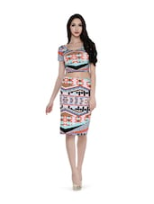 Tribal Printed Crop Dress - Magnetic Designs