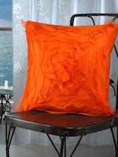 Orange Ruffled Cushion Covers (set Of 5) - Dekor World