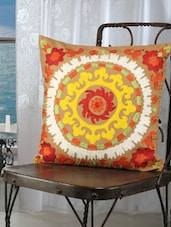 Multi-coloured Suzani Embroidered Cushion Covers (set Of 2) - Dekor World