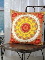 Multi-coloured Suzani Embroidered Cushion Covers (set Of 2) - Dekor World