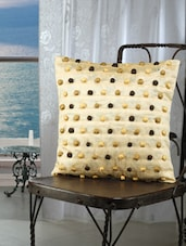 Cream Pom Pom Cushion Covers (set Of 2) - Dekor World