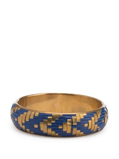 Blue and Gold Bangle - Toniq