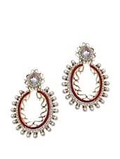 Amazing Crystal And Pearl Drop Earrings - Maayra