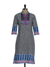 Fancy Cotton Kurta With Embroidered Patch In Front - Tanisi