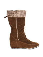 Brown Stylish Boots - Stylistry