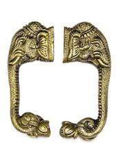 Elephant Trunk Brass Door Handle(Set Of 2) - Unravel India